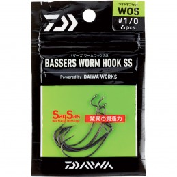 Bassers Worm Hook WOS